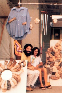 Diane and Garry Kvistad at the Cincinnati, Ohio, Craft Show, Spring of 1979