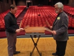 Joe and me rehearsing Reich's Mallet Phase on my Amadinda style xylophone