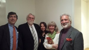 Fernando Leon ('71), Christopher Rouse ('71), Jill Gorvoy ('72),  Mary O'Connor Leon ('72) and me ('71)