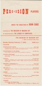 John Cage MOMA Program 2/7/43