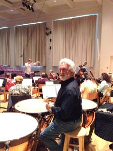 Playing timpani at Bard College under the direction of student conductors