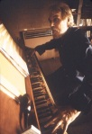 Harry Partch playing his 43-tone to the octave Chromolodean Reed Organ