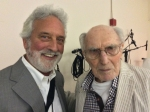 Me, backstage with Harvey Lichtenstein