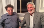 Philip Glass and me in the green room at BAM