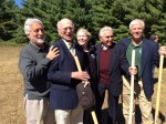 The groundbreaking of the Maurice Hinchey Interpretive Center. Left to right: Garry Kvistad, The Catskill Center for Conservation and Development co-founder Sherritt Chase, activist Kathy Nolan, congressman Maurice Hinchey and NYS Dept. of Environmental Conservation Commissioner Joseph Martens