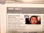 Our program listing for the Short Documentaries