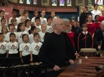 Garry Kvistad and Bob Becker of NEXUS accompanying the Toronto Children's Chorus on the Marimba