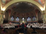 NEXUS and the Toronto Children's Chorus during the pre-concert rehearsal